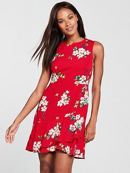 warehouse-blossom-print-dress-red