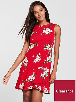 warehouse-blossom-print-dress-red