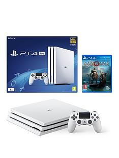 playstation-4-pro-white-console-with-god-of-war-plus-optional-extra-controller-andor-12-monthsnbspplaystation-network