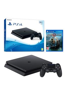 playstation-4-500gbnbspslim-black-console-with-god-of-war-and-optional-extras