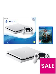 playstation-4-500gb-white-slim-console-with-god-of-war-and-extra-dualshock-controller