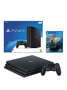playstation-4-pro-black-console-with-god-of-war-plus-optional-extra-controller-andor-12-months-playstation-network