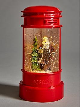 santa-in-a-postboxnbspwater-lantern-christmas-decoration
