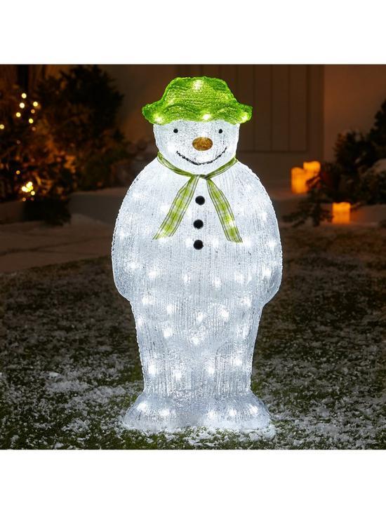 the snowman acrylic light outdoor christmas decoration verycouk