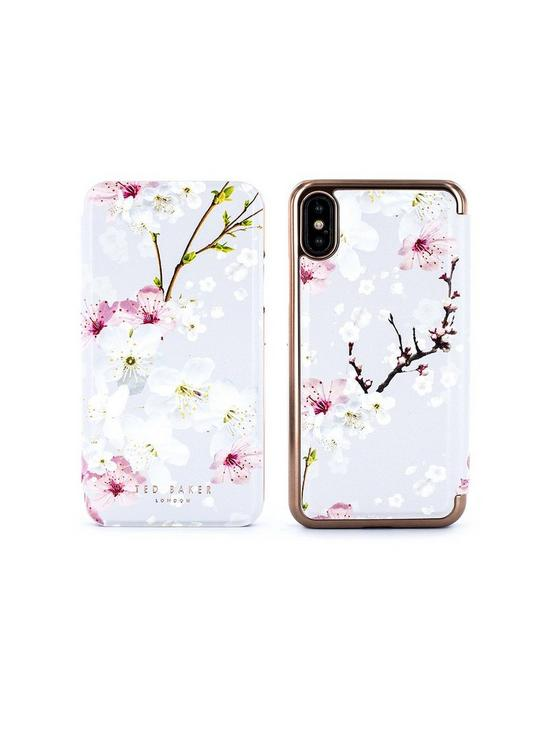 new style 60a6c 99f3f Breek Mirror Folio Case for iPhone X - Oriental Blossom