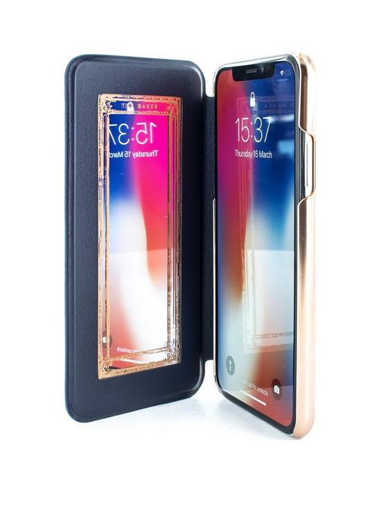 reputable site f7d57 49851 Mirror Folio Case (Apple iPhone X) - Blushing Bouquet
