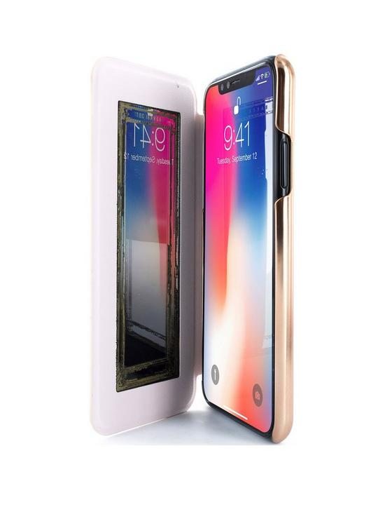 1e6b6b0418 Ted Baker KNOWISE Mirror Folio Case for iPhone X - Porcelain Rose (Nude)