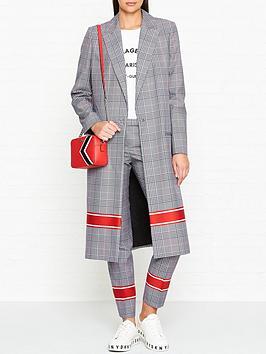 hugo-malenis-check-stripe-detail-coat-greyred