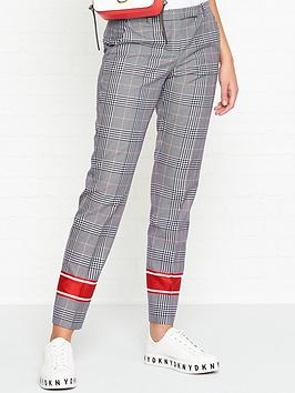 hugo-harile-check-stripe-detail-trousers-greyred