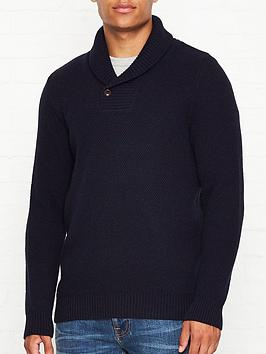 barbour-honeycomb-shawl-neck-jumper-navy