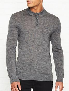 barbour-knitted-long-sleeve-logo-polonbsp--grey