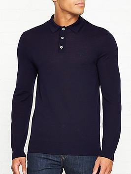 barbour-knitted-long-sleeve-logo-polo-navy