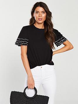 v-by-very-ruffle-edging-t-shirt-black