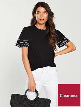 v-by-very-ruffle-edging-t-shirt-black
