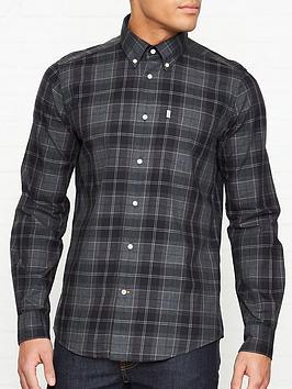 barbour-wetheram-check-shirt-grey