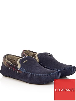 barbour-mens-monty-check-slippersnbsp--navy