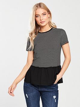 v-by-very-stripe-peplum-t-shirt-black