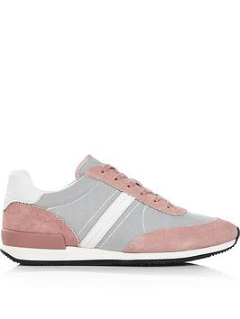 hugo-adrienne-mesh-and-suede-lace-up-trainers-pink