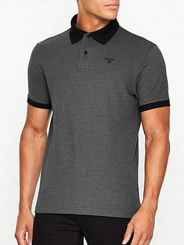 barbour-sports-mix-polo-shirt-greyblack