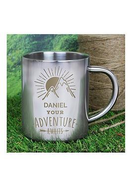 father039s-day-personalised-039adventure-awaits039-metal-mug