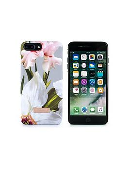ted-baker-auriole-soft-feel-hard-shell-for-iphone-8-plus7-plus--nbspchatsworth-bloom-mid-grey