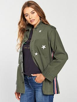 Replay Replay Star Embroidery Tape Detail Shacket