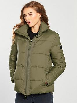 Replay High Neck Padded Jacket - Military