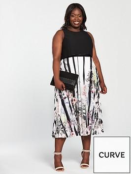 coast-curve-bailey-print-pleated-dress-black