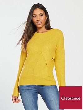 v-by-very-twist-front-detail-jumper-saffron-yellownbsp