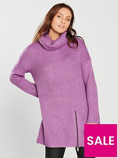 v-by-very-roll-neck-zip-detail-slouch-rib-longline-jumper-violetnbsp