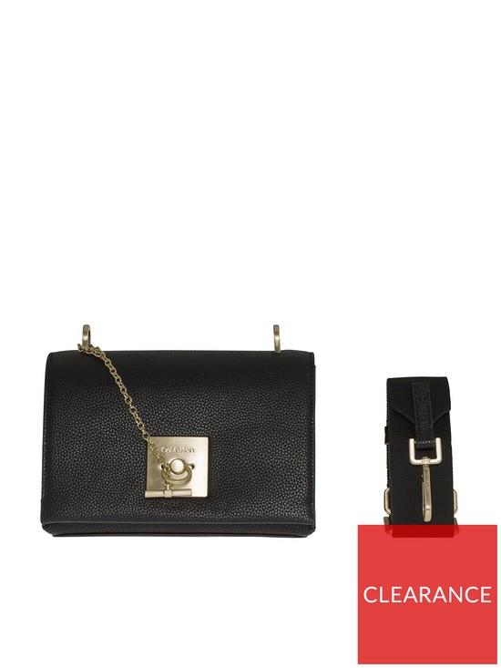 8c676e88c0c Calvin Klein Ck Lock Black Crossbody Bag | very.co.uk