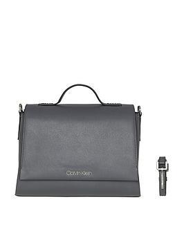 Calvin Klein Calvin Klein Grey Frame Top Handle Satchel Bag