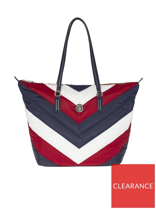 Tommy Hilfiger Poppy Chevron Padded Tote Bag  9b7464efa5bc8