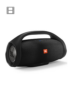 JBL BOOMBOX Wireless Bluetooth Rugged Portable Waterproof Speaker with 24 hour Battery Life and Connect+