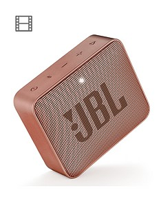 JBL GO 2 Wireless Bluetooth Speaker with IPX7 Water-Resistant Rating, 5 Hours Playtime and Call Handling - Cinnamon
