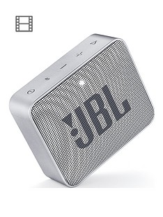 JBL GO 2 Wireless Bluetooth Speaker with IPX7 Water-Resistant Rating, 5 Hours Playtime and Call Handling - Grey
