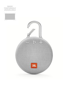 JBL JBL Clip3 Wireless Bluetooth Ultra Portable and Rugged Speaker with Integrated Carabiner Clip and Up To 10 hours Playtime - White