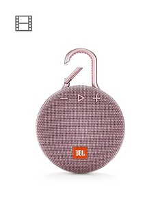 JBL JBL Clip3 Wireless Bluetooth Ultra Portable and Rugged Speaker with Intergrated Carabiner and Up To 10 hours Playtime - Dusty Pink