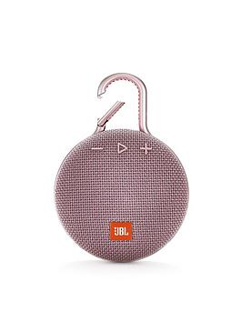 jbl-jbl-clip3-wireless-bluetooth-ultra-portable-and-rugged-speaker-with-intergrated-carabiner-and-up-to-10-hours-playtime-dusty-pink