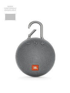 JBL JBL Clip3 Wireless Bluetooth Ultra Portable and Rugged Speaker with Integrated Carabiner Clip and Up To 10 hours Playtime - Grey