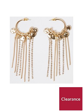 river-island-coin-sparkle-drop-hoop-earrings-gold