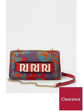 river-island-river-island-jacquard-pattern-crossbody-bag--multi