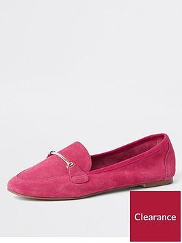 river-island-suedette-loafer--pink