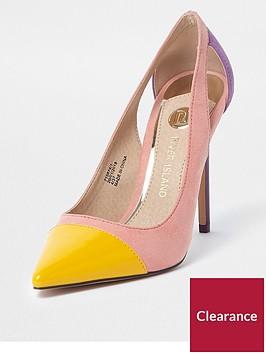 river-island-colour-block-toe-cap-court-shoes-pink