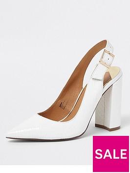 river-island-block-heel-court-shoe-white