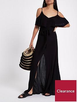ri-petite-petite-button-front-maxi-dress-black