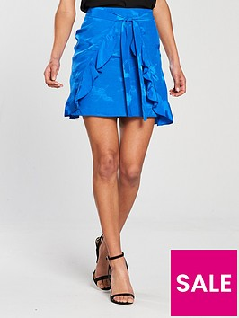 river-island-wrap-mini-skirt--blue