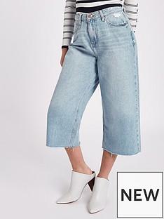 river-island-ri-petite-alexa-wide-leg-cropped-jeans--dark-blue