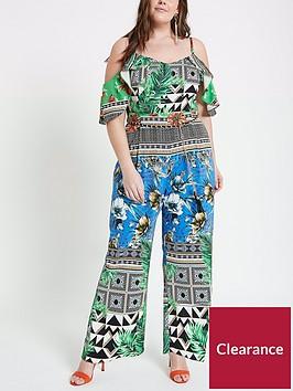 ri-plus-tropical-print-jumpsuit-multi