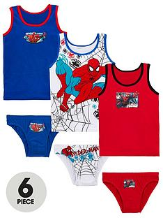 spiderman-spider-man-6-piece-vest-and-brief-set